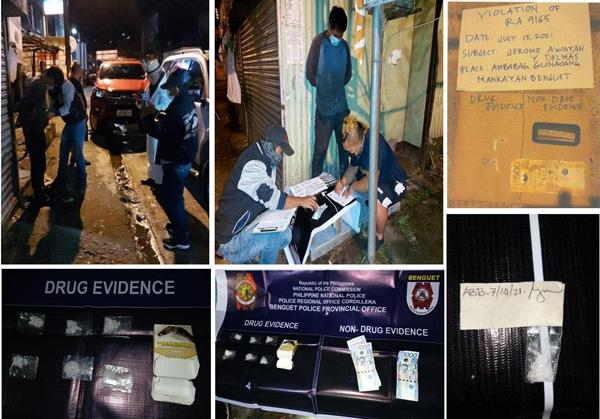 3 Drug peddlers busted in Benguet