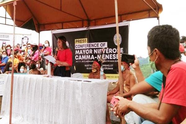Nagtipunan mayor hosts a peaceful protest over the suspension
